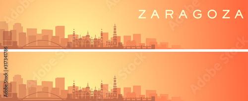 Zaragoza Beautiful Skyline Scenery Banner