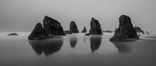 Seascape Panorama - Bandon Oregon - Oregon Coast