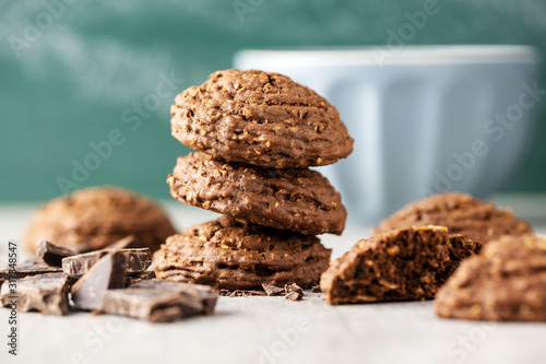 Cereal cocoa cookies. Wallpaper Mural