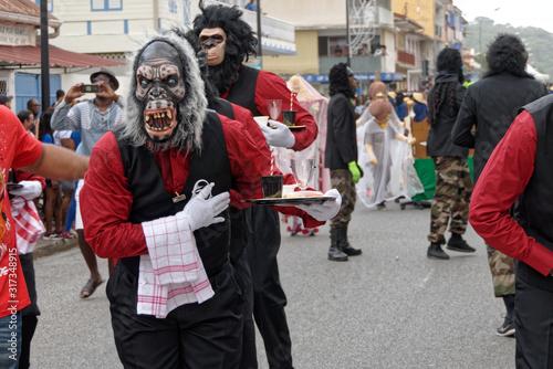 Canvastavla Petite collation au carnaval de Cayenne en Guyane française