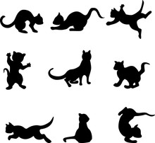 Image Of Silhouettes Of Playin...