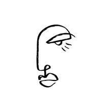 Simple Hand Drawn Trendy Line ...