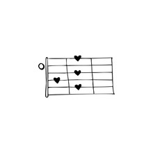 Chords, Hearts Illustration. S...