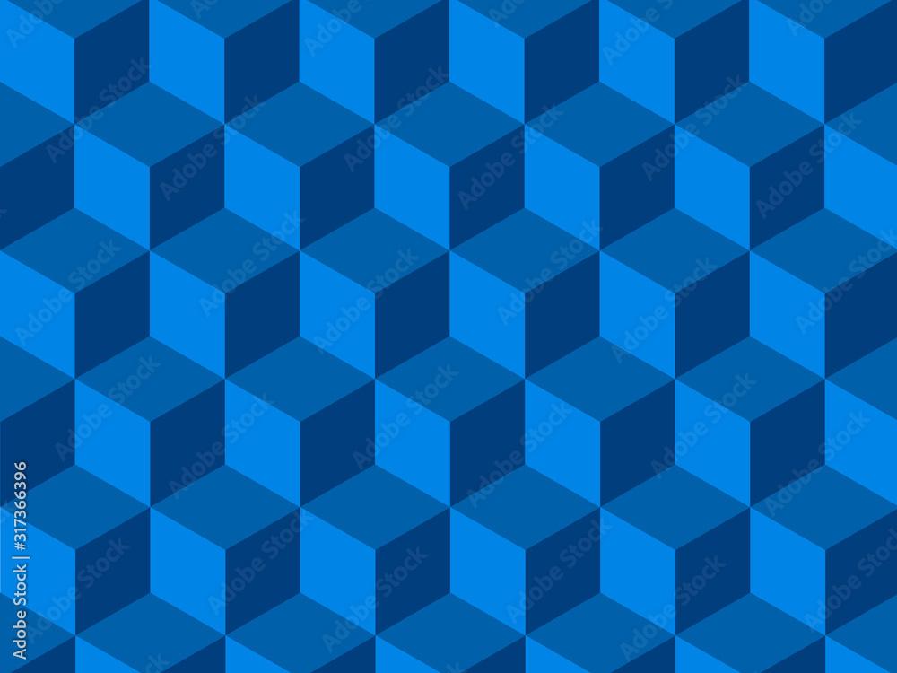 Fototapeta Background of blue isometric cubes