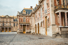 Colorful Aged Palace In Street Of Paris