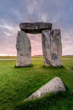 Sunnset Over Stonehenge