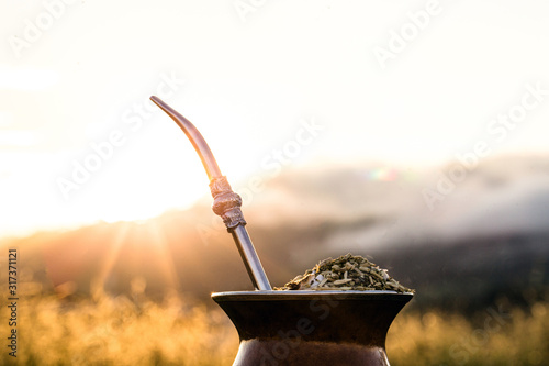 Vászonkép Chimarrão, or mate, is a characteristic drink of the culture of southern South America bequeathed by indigenous cultures
