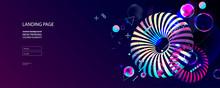 2Modern Futuristic Neon Space ...