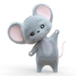 mini mouse cartoon in white background doing a cute pose