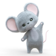 Mini Mouse Cartoon In White Ba...