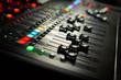canvas print picture - Recording studio equipment. Professional audio mixing console.