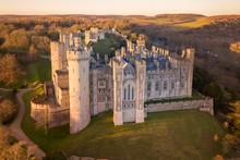 Arundel Castle, Arundel, West Sussex, England, United Kingdom. Bird Eye View