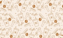 Pattern Elements Of Coffee Ico...