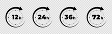 Clock Arrow 12, 16, 24, 48, 72...