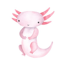 Cute Sitting Watercolor Kawaii...