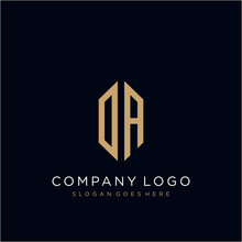 DA Letter Logo Icon Design Tem...
