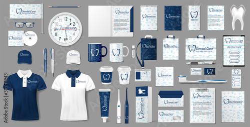Fotografía Stationery mockup for Dental Clinic