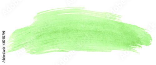 Photo Green pastel watercolor abstract background, isolated place with divorces and borders