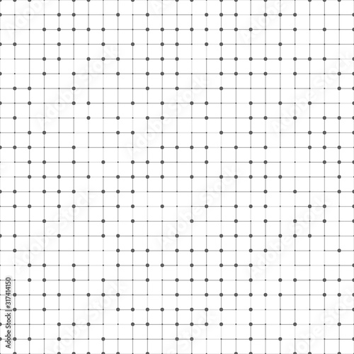 Abstract black square pattern design of technology artwork background. illustration vector eps10 Fotomurales
