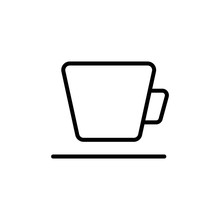 Simple Cup Line Icon.
