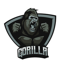 Angry Gorilla Logo With Backgr...