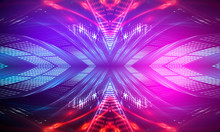Ultraviolet Abstract Light. Di...