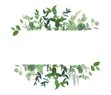 Horizontal Botanical Vector De...