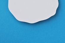 青色と白の紙