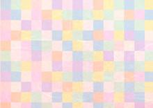 ピンク基調のカラフルポップな和紙テクスチャ背景素材