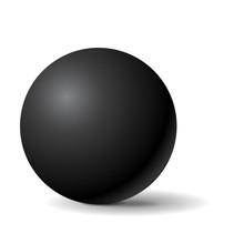 Black Sphere. 3d Geometric Shape