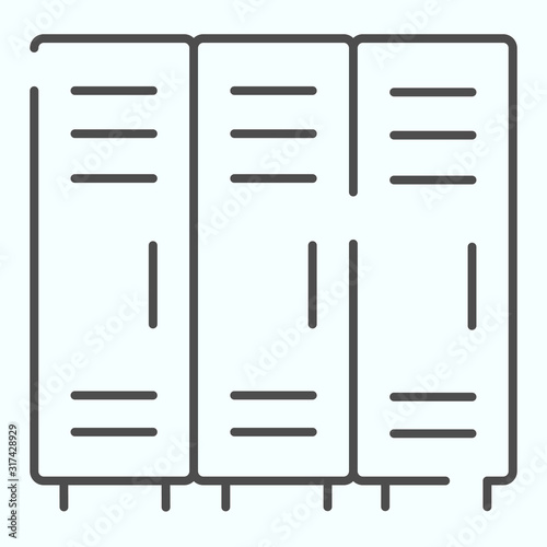 Lockers thin line icon Canvas-taulu