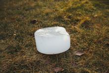 Big White Round Piece Of Ice H...