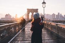 Sunrise At Brooklyn Bridge
