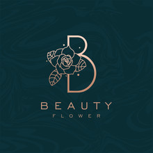 Initial B Flower Beauty Letter...