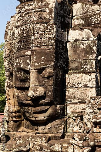 Photo Cara en templo Bayón, Camboya.