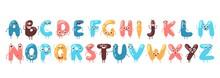 Funny Font, Vector Illustratio...