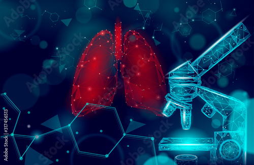 Valokuva 3D human lungs medicine microscopic research concept