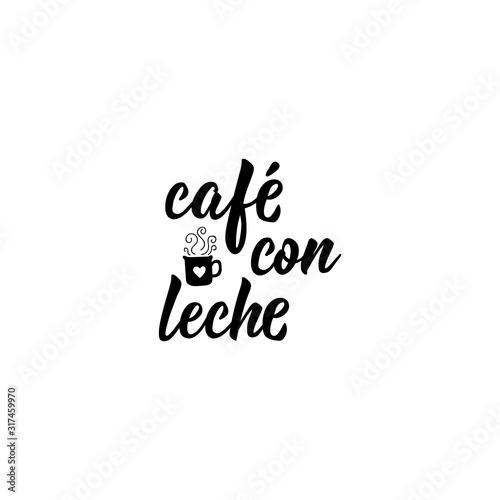 Cuadros en Lienzo  Coffee with milk - in Spanish