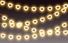 Heart Yellow Light Garland Val...