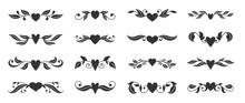 Heart Floral Wing Divider Love Tatoo Border