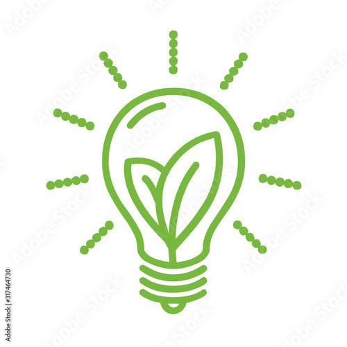 Obraz Green eco energy symbol illustration - fototapety do salonu