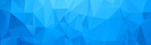 Abstract Wide Polygonal Blue T...