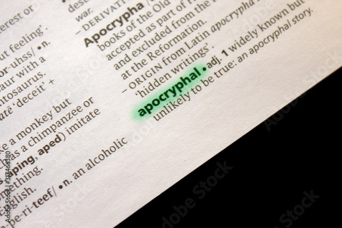 Apocryphal word or phrase in a dictionary. Wallpaper Mural