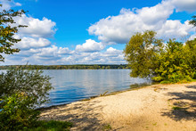 Autumn View Of Wannsee Lake In...
