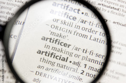 Artificer word or phrase in a dictionary. Wallpaper Mural