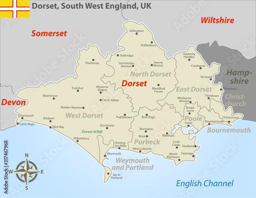 Dorset, South West England, UK Fototapet