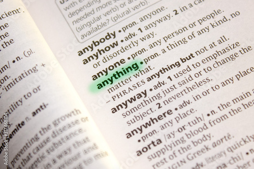 Anything word or phrase in a dictionary. Wallpaper Mural