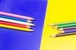canvas print picture - colored pencils, color gamut