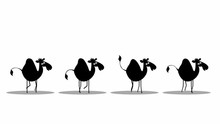 Funny Camels Walking (seamless...