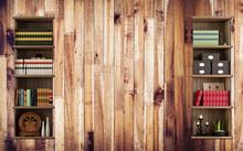 3d Mural Wallpaper For The Lib...